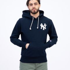 CHAMPION HOODED YANKEES NAVY