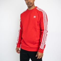 ADIDAS 3-STRIPES CREW RED