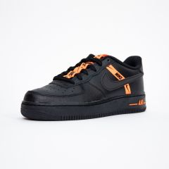 NIKE AIR FORCE 1 LV8 BLACK TOTAL ORANGE