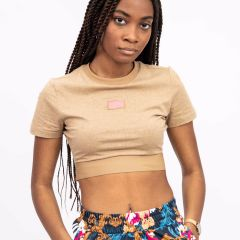 ADIDAS CROPPED TEE BEIGE