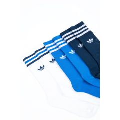 ADIDAS SOLID CREW SOCK BLUE/WHITE