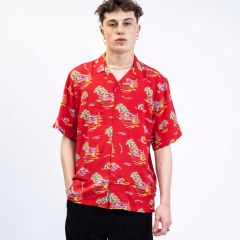 CARHARTT WIP S/S BEACH SHIRT PRINT RED