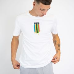 PUMA FD GRAPH TEE-SHIRT WHITE GOLD