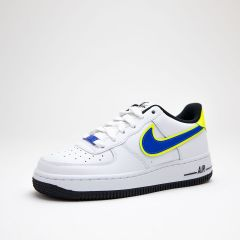 NIKE AIR FORCE 1 '07 WHITE-RACER BLUE-VOLT