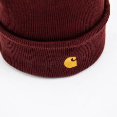 CARHARTT WIP CHASE BEANIE BORDEAUX GOLD