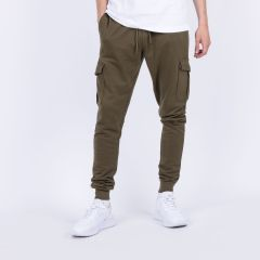 URBAN C FITTED CARGO SWEATPANT OLIVE