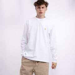 CARHARTT WIP L/S CHASE T-SHIRT WHITE/GOLD