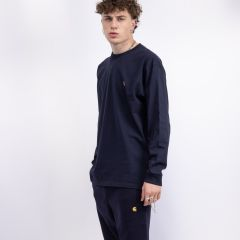 CARHARTT WIP L/S CHASE T-SHIRT NAVY/GOLD
